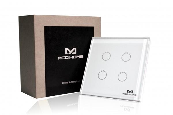 MCO Home Glas-Wandschalter GEN 5 (4 Tasten), Britischer Standard