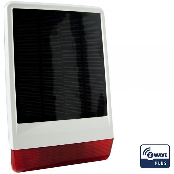 Popp Solar-Außensirene, energieautark