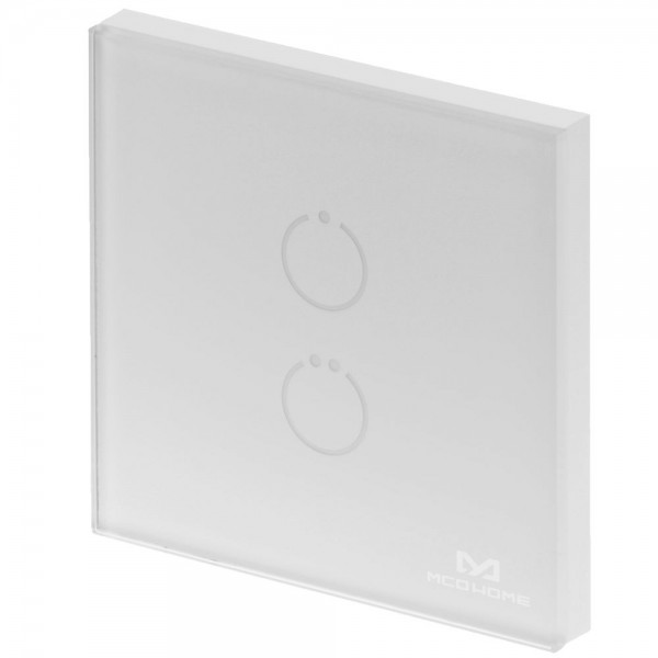 MCO Home Touch Panel Switch, 2 Tasten