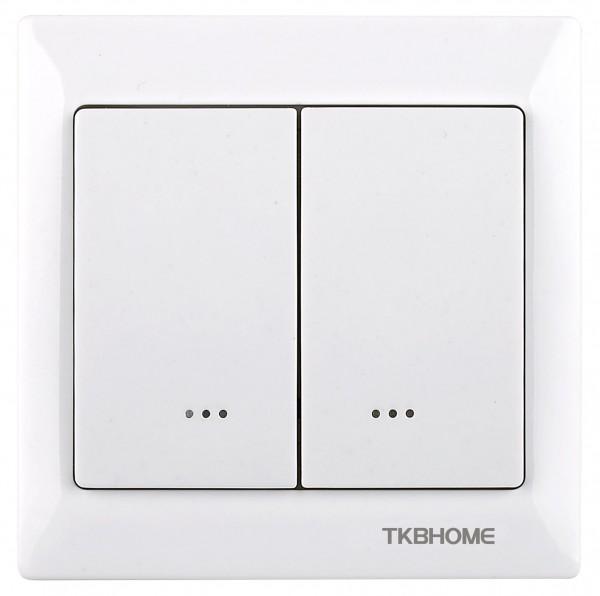 TKB Home Doppelrelais Wandschalter