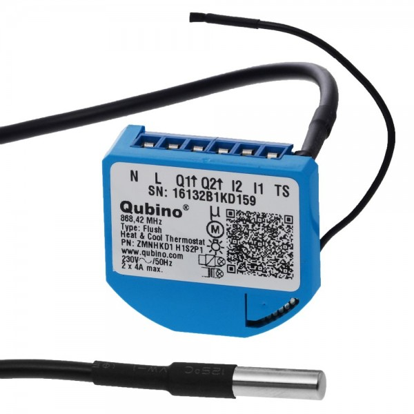 Qubino Flush Heat & Cool Thermostat Unterputz-Mikromodul EU