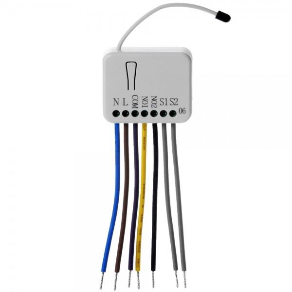 Philio Relais Unterputzeinsatz 2 Schalter a 1.5kW