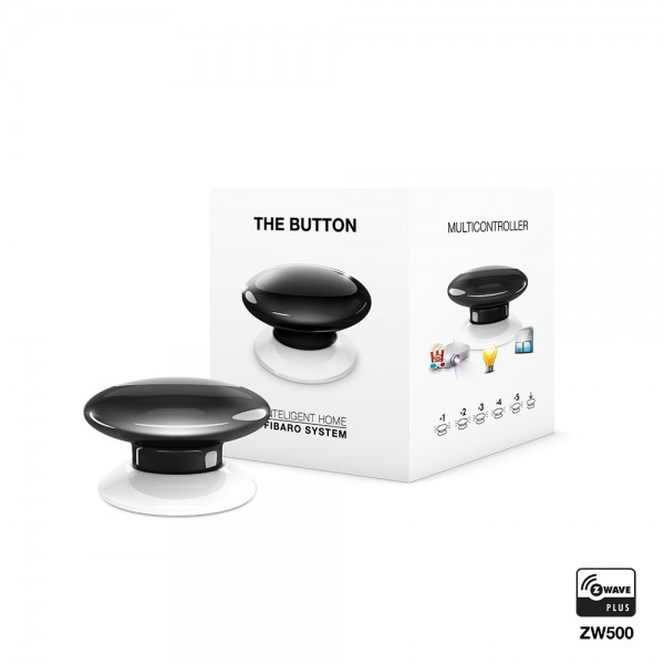Fibaro The Button, schwarz